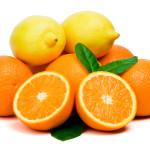Cytryny w kolorze pomarańczowym